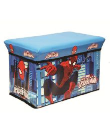Spiderman Storage Cum Sitting Box - Blue