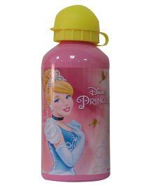 Disney Princess Print Sipper Water Bottle Pink Yellow - 500 ml