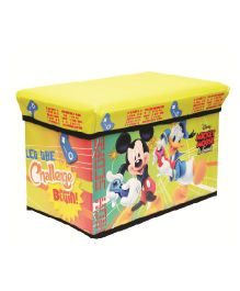 Mickey Mouse Storage Cum Sitting Box - Yellow