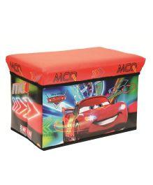 Disney Pixar Cars Storage Cum Sitting Box - Red