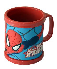 Spider Man Embossed Mug Plastic - Red Blue
