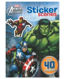 Marvel Avengers Assemble Sticker Scenes Book - English