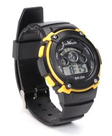 Digital Wrist Watch - Yellow Black