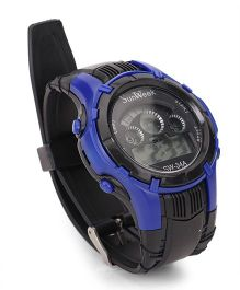 Digital Wrist Watch - Black Blue