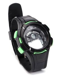 Digital Wrist Watch - Green Black