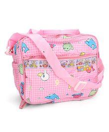 Mee Mee Nursery Bag Checks And Number Print - Pink