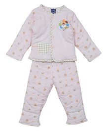 Lilliput Kids Full Sleeves Night Suit - Pink
