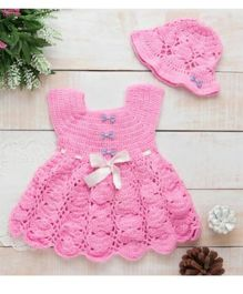 The Original Knit Dress Set With Cap - Pink