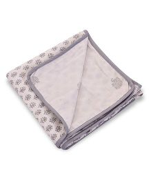 Mom's Home Organic Cotton Dohar Cum Swaddle - Cream