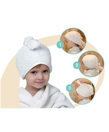 Mom's Home Organic Cotton Kids Hair Wrap Towel - Beige