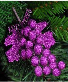 Bling It On Grape Christmas Tree Ornaments - Purple