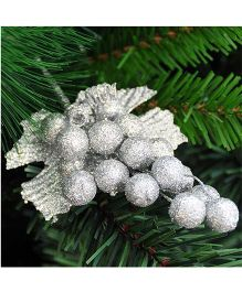 Bling It On Grape Christmas Tree Ornaments - Silver