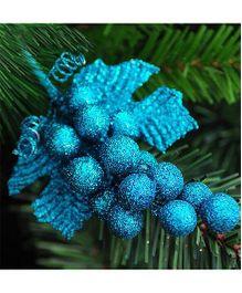 Bling It On Grape Christmas Tree Ornaments - Blue