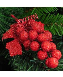 Bling It On Grape Christmas Tree Ornaments - Red