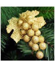 Bling It On Grape Christmas Tree Ornaments - Golden