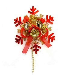 Bling It On Snowflake Christmas Tree Ornament - Blue & Silver