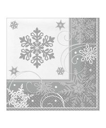 Bling It On Sparkling Snowflake Lunch Napkins - 16 Pieces