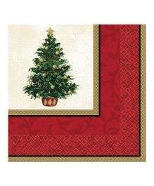 Bling It On Classic Christmas Tree Lunch Napkins - 16 Pieces