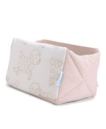 Abracadabra Sheep Embroidered Cot Utiity Box - Cream Peach