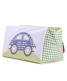 Abracadabra Car Embroidered Cot Utiity Box - Green Blue
