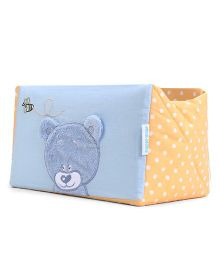 Abracadabra Bear Patch And Dots Design Cot Utiity Box - Blue Yellow