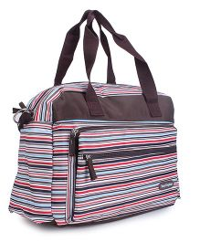 Abracadabra Stripes Diaper Bag - Brown Multicolor