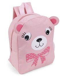 Fox Baby School Bag Animal Face And Bow Print Pink - 11 Inches