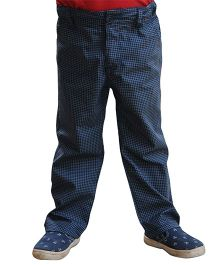 Snowflakes Checks Trouser - Blue