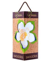 Kaarpas Premium Organic Cotton Muslin Large Swaddle Sun