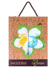 Kaarpas Premium Organic Cotton Muslin Large Swaddles Pack Of 2 Sun & Moon
