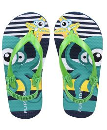 Flipside Kids Squid Slipper - Green