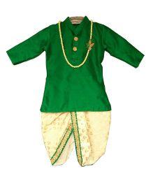 Swini's Baby Wardrobe Kurta & Dhoti - Green & Cream