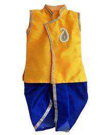 Swini's Baby Wardrobe Kurta & Dhoti - Yellow & Blue