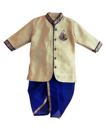 Swini's Baby Wardrobe Kurta & Dhoti - Cream & Blue