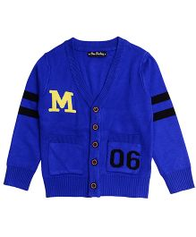 One Friday Boys Knitted Cardigan - Electric Blue