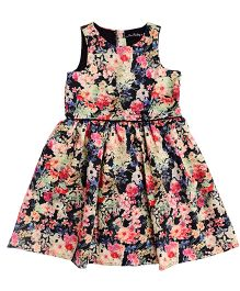 One Friday Girls Floral Printed Dress - Multicolor