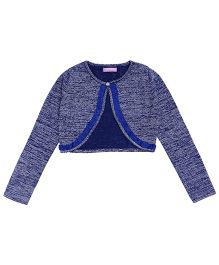 One Friday Girls Knitted Cardigan - Blue
