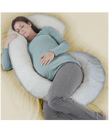 Humble Story Pregnancy Pillow With Cover Polka Dots - White
