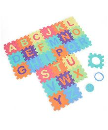 Funjoy Kids Puzzle Play Mats English Alphabets A To Z 27 Tiles (Color May Vary)