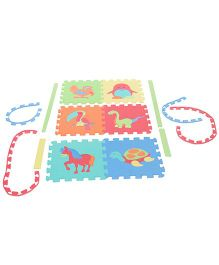 Kids' Puzzle Play Mats Animals Birds Dino Horse Tortoise Penguin Hen And Toucan