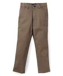 Highflier Khaki Cotton Twill Pants - Khaki