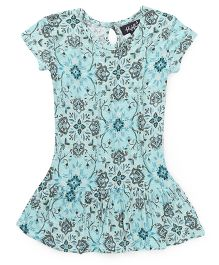 Highflier Printed Peplum Top - Green