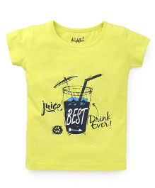 Highflier Drink Print T-Shirt - Green