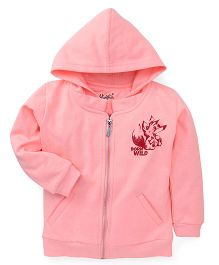 Highflier Baby Fox Sweat Shirt With Hood - Peach