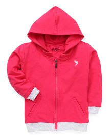 Highflier Sweat Shirt With Hood - Pink