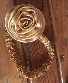 Flutterbows Sequin Headband - Gold