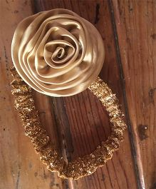 Flutterbows Sequin Headband - Gold