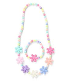 Adores Kids Jewellery Set With Flowers - Multicolor