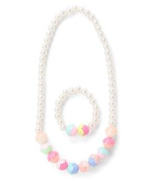 Adores Pearl & Beads Kids Jewellery Set - Multicolor