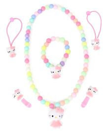 Adores Kitty & Beads Kids Jewellery - Pink